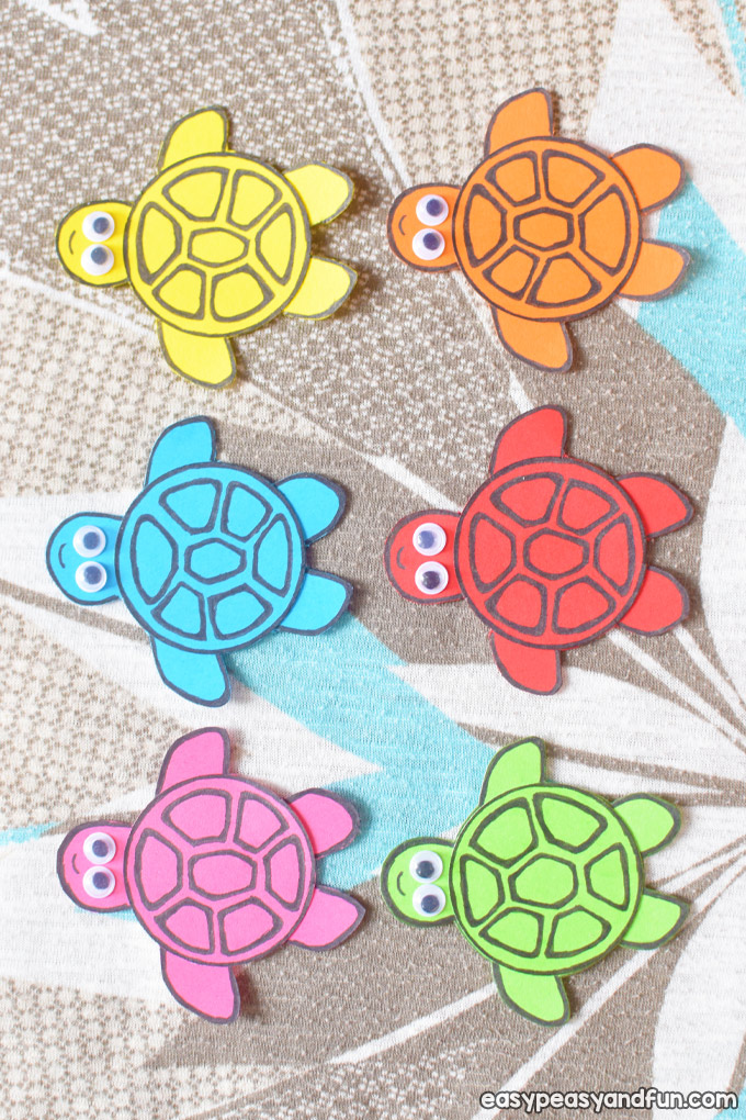 Simple Paper Turtles Craft for Kids to Make