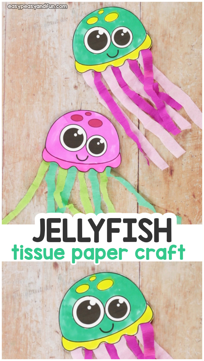 Tissue Paper Jellyfish Craft for Kids