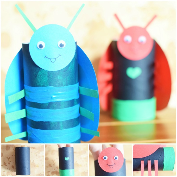 Toilet Paper Roll Bugs Craft Idea