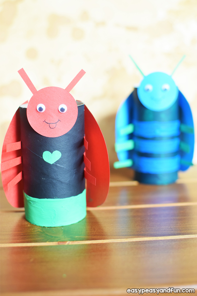 Toilet Paper Roll Bugs Craft for Kids to Make