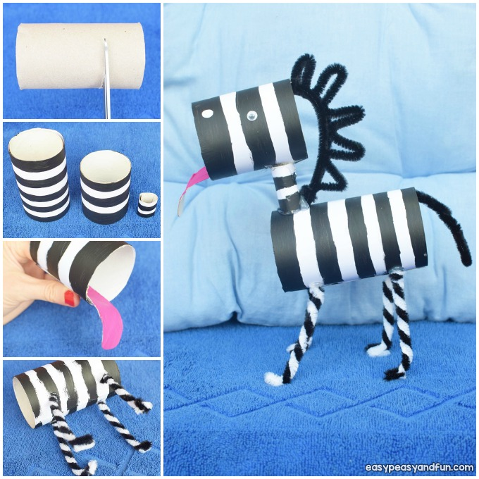 Zebra Toilet Paper Roll Craft Idea