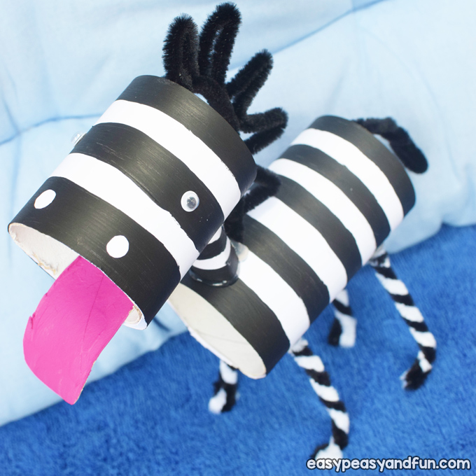 Zebra Toilet Paper Roll Craft for Kids