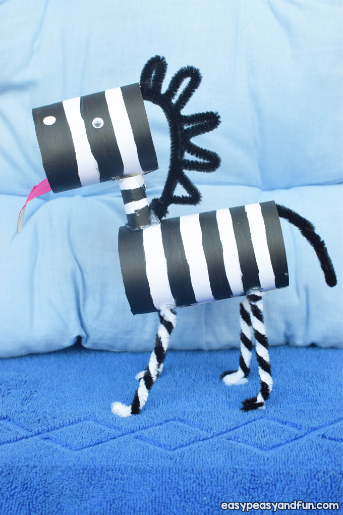 Zebra Toilet Paper Roll Craft for Kids to Make