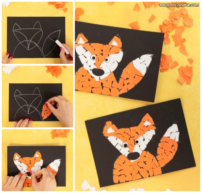 Fox Paper Collage Craft