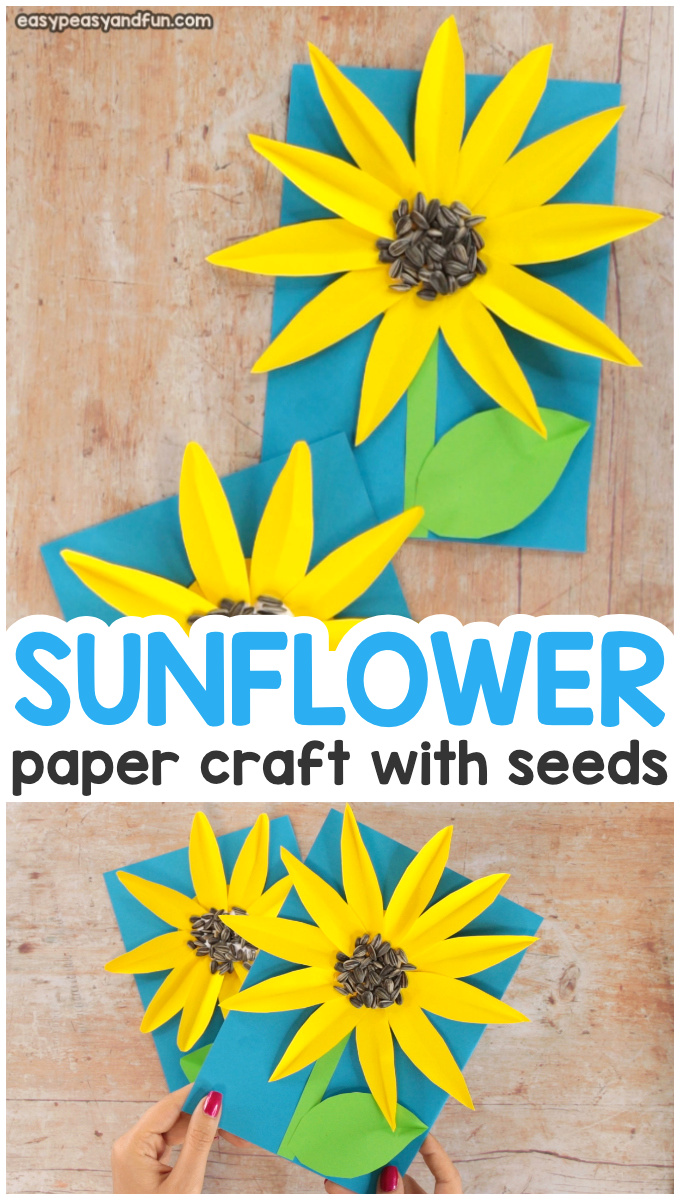 Easy Paper Sunflower Craft for Kids