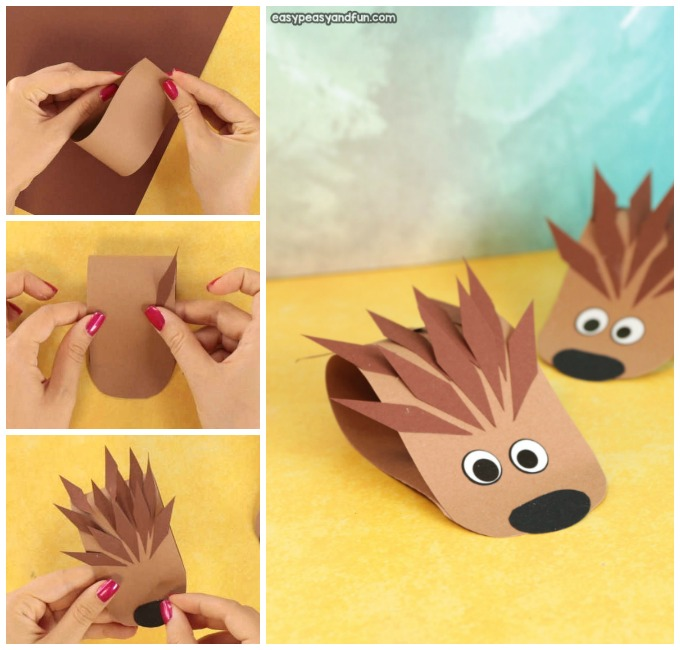 Hedgehog Paper Craft Simple