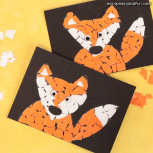 Paper Collage Fox Craft Idea