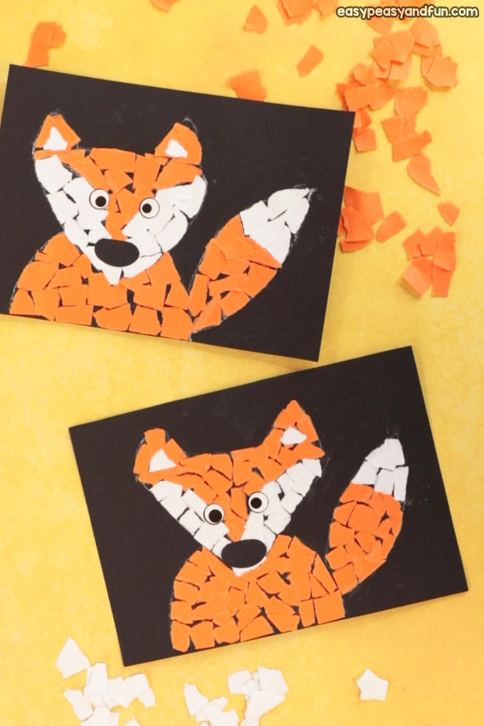 Paper Collage Fox Craft