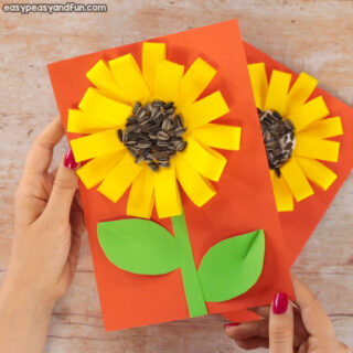 Paper Loops Sunflower Craft With Seeds