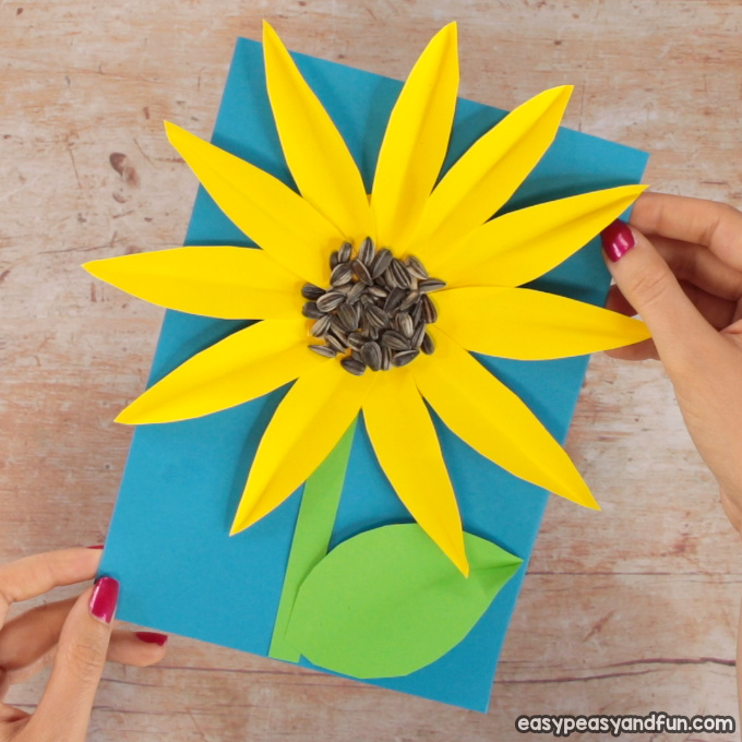 Paper Sunflower Craft Idea