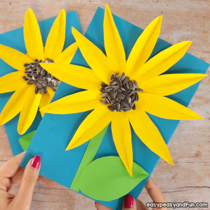 Paper Sunflower Craft for Kids