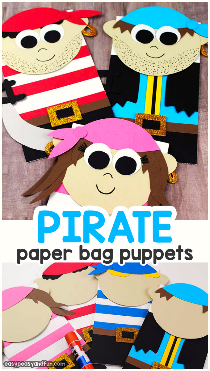 Pirate Paper Bag Puppets