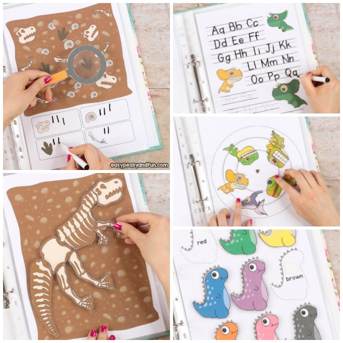 Printable Dinosaur Activity Book for Kids