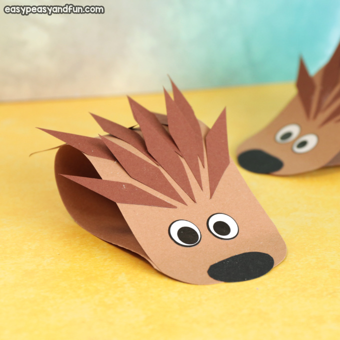 Simple Hedgehog Paper Craft Idea