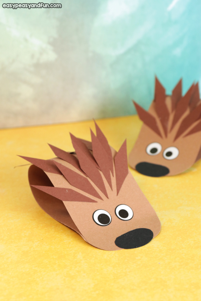 Simple Hedgehog Paper Craft for Kids