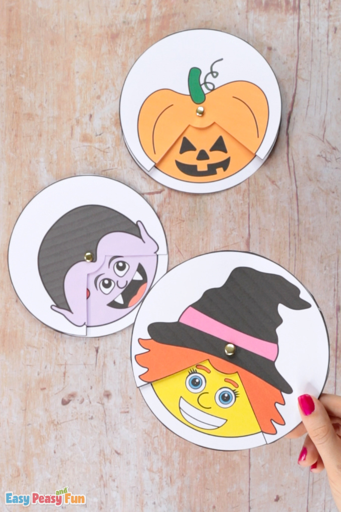 Emotions Spinners Halloween Craft for Kids
