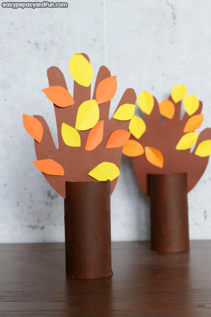 Fall Handprint Tree Craft