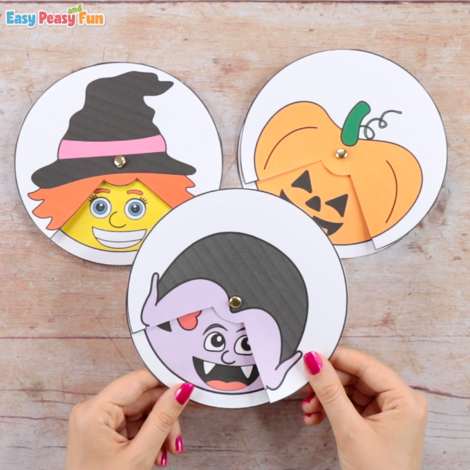 Halloween Emotions Spinners Craft