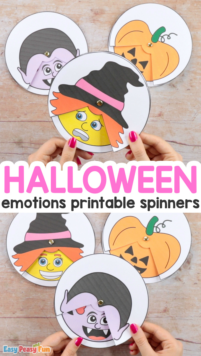 Halloween Emotions Spinners With Printable Template