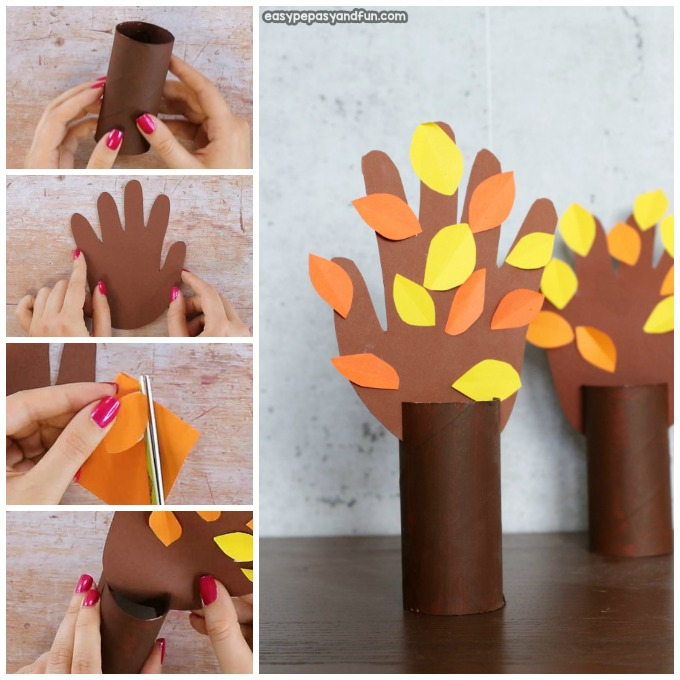 Handprint Fall Tree Craft for Kids
