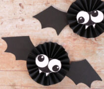 Paper Rosette Bat Craft