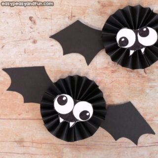 Paper Rosette Bat Craft Idea for Kids
