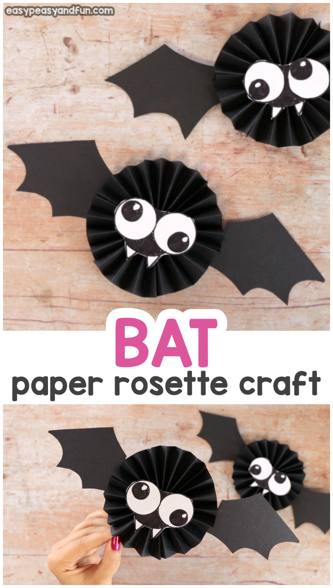 Paper Rosette Bat Craft for Kids