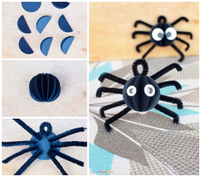 Pipe Cleaner and Paper Spider Craft