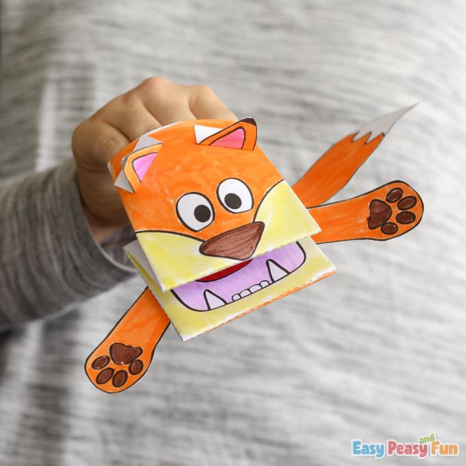 Printable Fox Puppet Craft