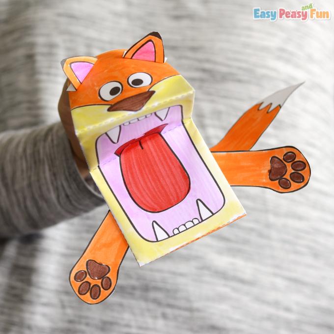 Printable Fox Puppet