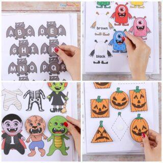 Printable Halloween Quiet Book