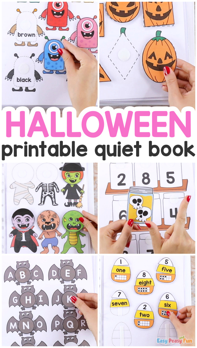 Printable Halloween Quiet Book for Kids