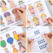 Printable People Quiet Book