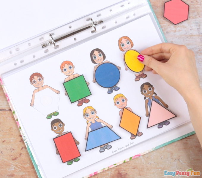 Printable People Quiet Book - Shapes