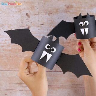 Simple Paper Bat Craft Idea