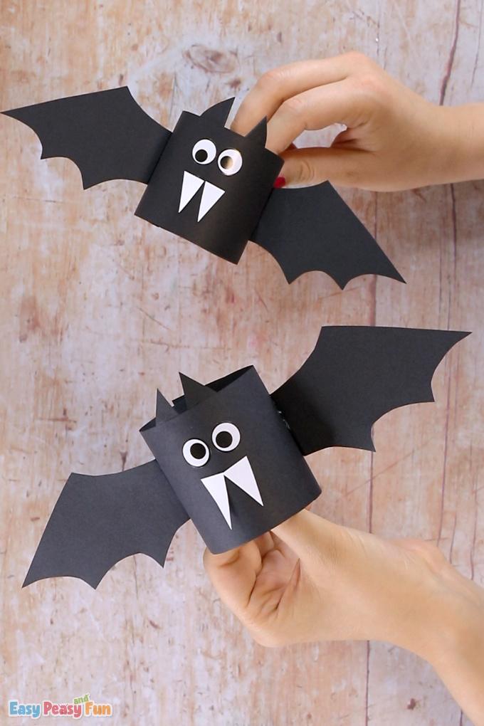 Simple Paper Bat Craft Idea for Kids