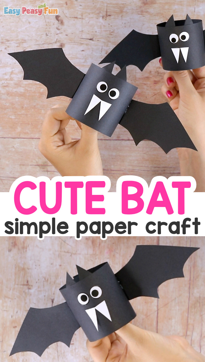 Simple Paper Bat Craft for Kids