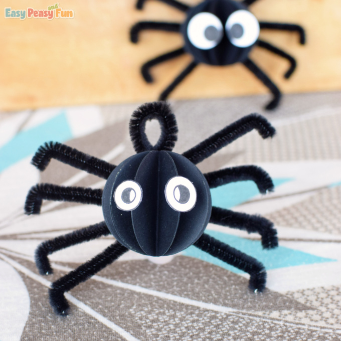 Spider Pipe Cleaner Craft for Kids