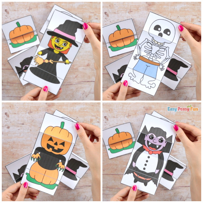 Surprise Halloween Cards Craft With Printable Templates