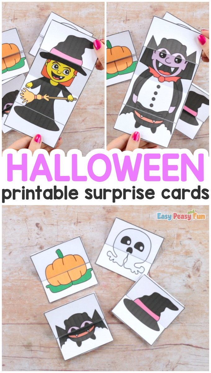 Surprise Halloween Cards Craft for Kids With Printable Templates