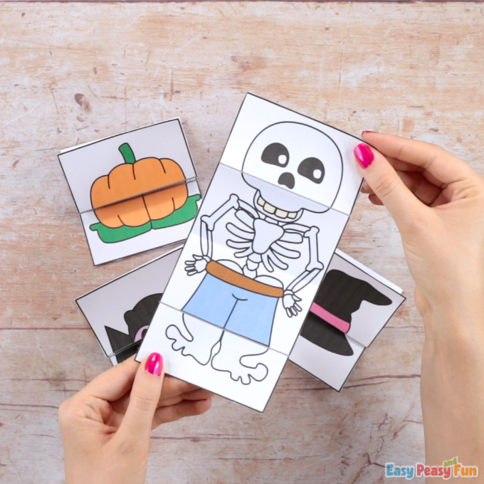 Surprise Halloween Skeleton Cards Craft