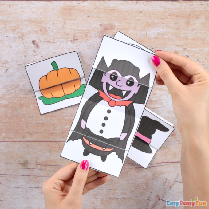 Surprise Halloween Vampire Cards Craft