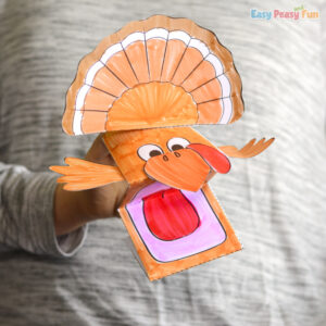 Turkey Puppet Printable Template