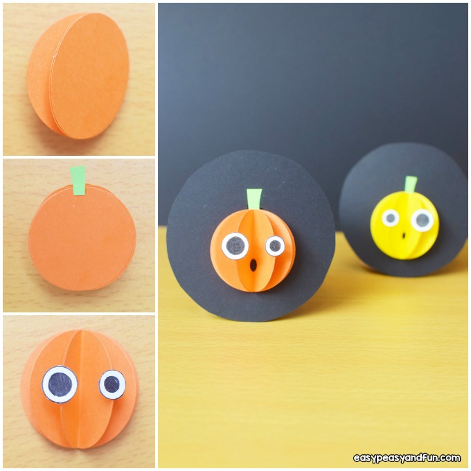 Halloween Paper Pumpkin Craft Idea