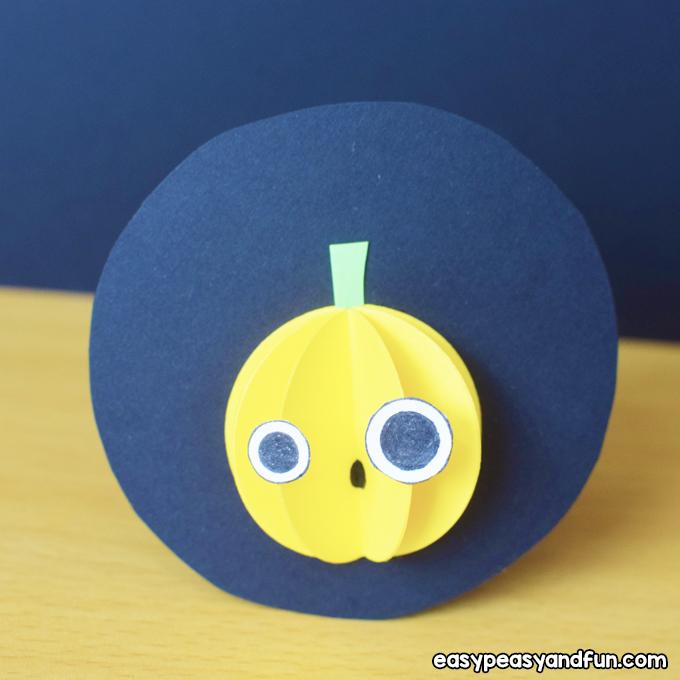 Halloween Paper Pumpkin Craft for Kids to Make