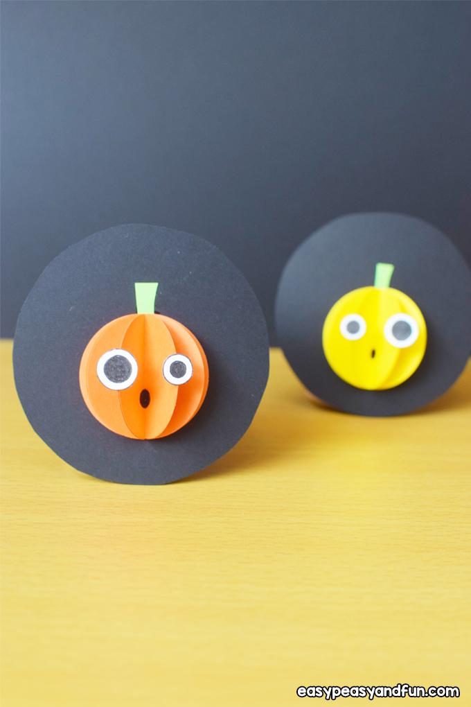 Halloween Paper Pumpkin Craft for Kids