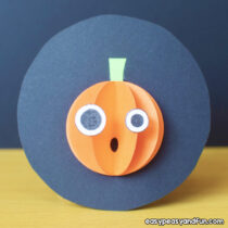 Halloween Paper Pumpkin Craft