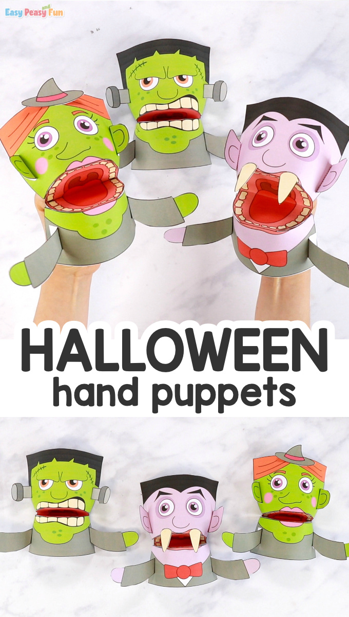 Halloween Puppets Templates For Kids