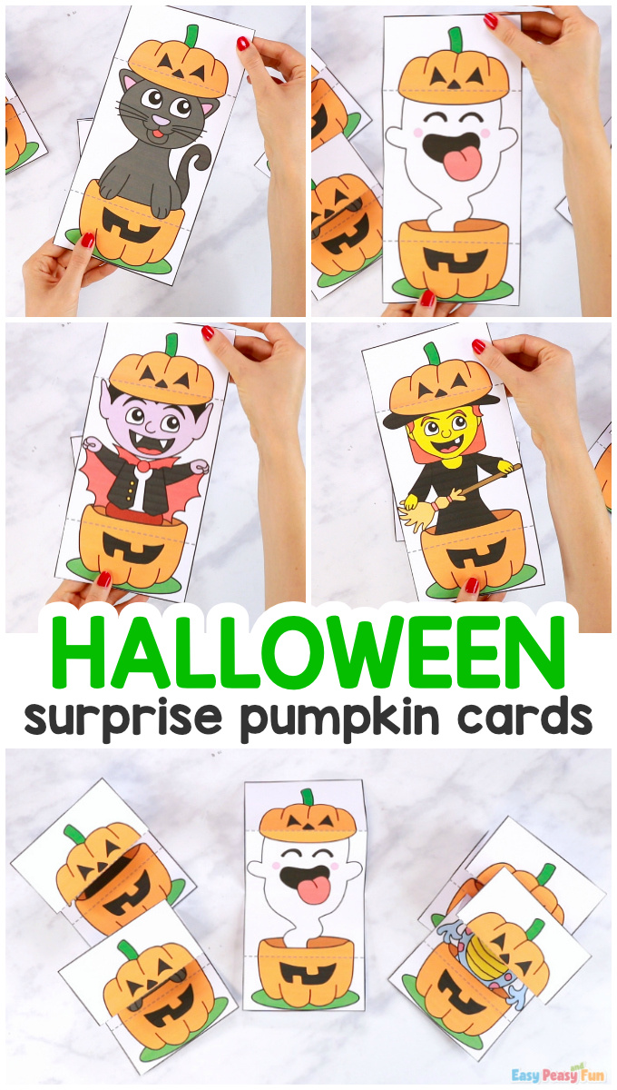 Printable Surprise Pumpkin Halloween Cards