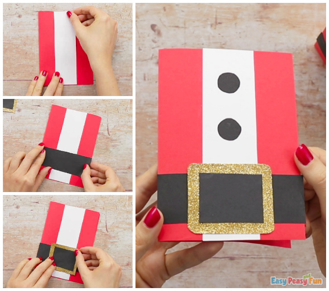 Santa DIY Christmas Card Idea for Kids